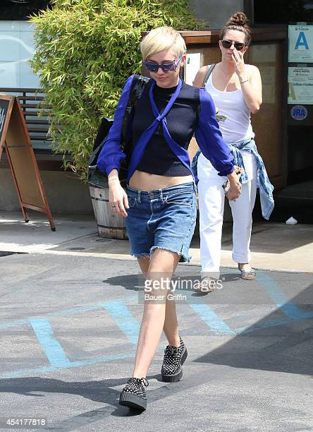 Miley Cyrus is seen on August 25 2014 in Los Angeles California