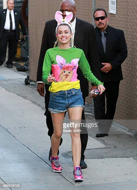 Miley Cyrus is seen on August 26 2015 in Los Angeles California