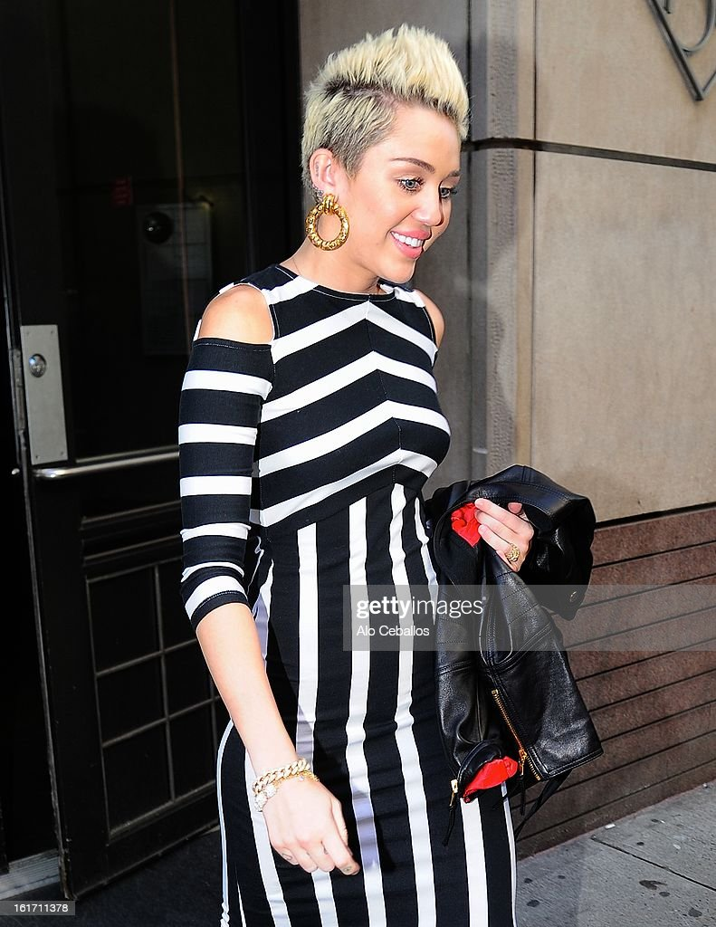 <a gi-track='captionPersonalityLinkClicked' href=/galleries/search?phrase=Miley+Cyrus&family=editorial&specificpeople=3973523 ng-click='$event.stopPropagation()'>Miley Cyrus</a> is seen on February 14, 2013 in New York City.