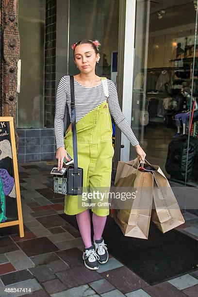 Miley Cyrus is seen on September 15 2015 in Los Angeles California