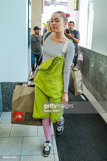 Miley Cyrus is seen on September 15 2015 in Los Angeles California