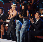 Miley Cyrus Katy Perry and Sam Smith attend the 2014 MTV Video Music Awards held at The Forum on August 24 2014 in Inglewood California