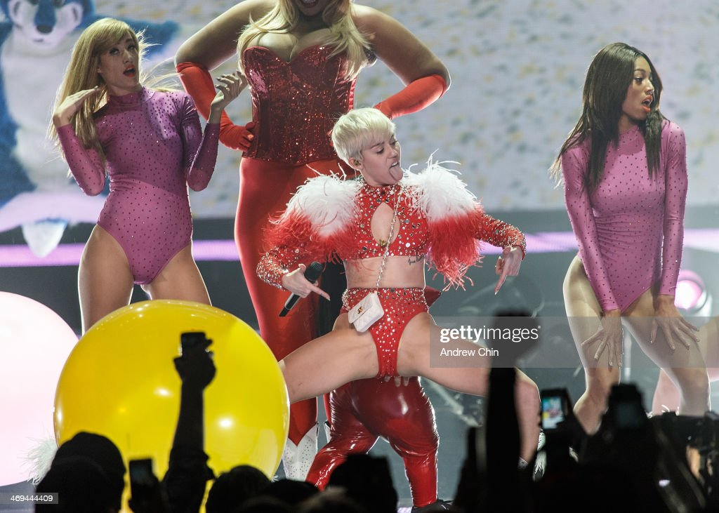 Miley Cyrus performs at Pepsi Live at Rogers Arena on February 14, 2014 in Vancouver, Canada.