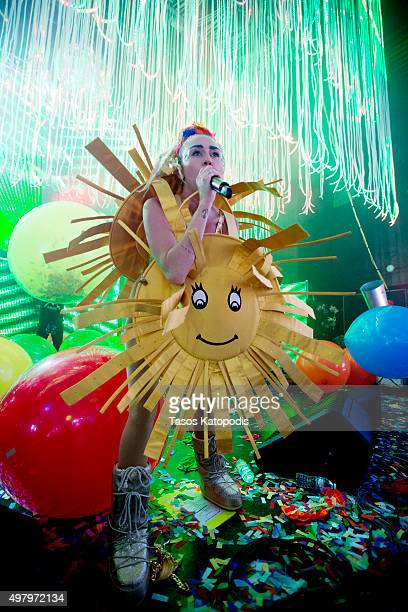 Miley Cyrus performs at the opening night of the 'Miley Cyrus and Her Dead Petz' tour at The Riviera Theatre on November 19 2015 in Chicago Illinois
