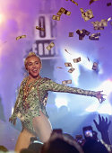 Miley Cyrus performs at the Time Warner Cable Arena on August 6 2014 in Charlotte North Carolina