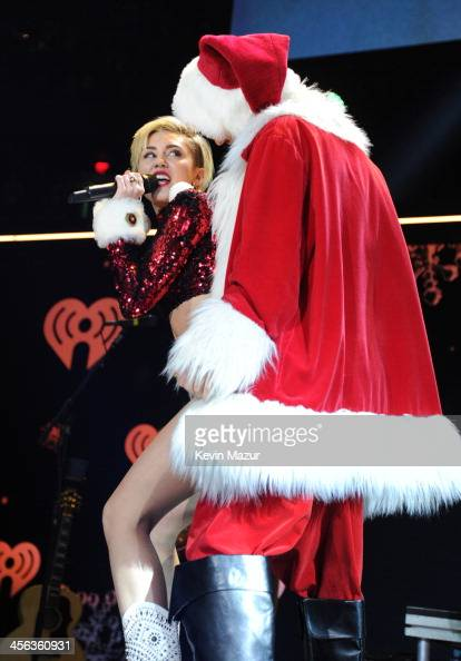 Miley Cyrus performs onstage during Z100's Jingle Ball 2013 presented by Aeropostale Madison Square Garden on December 13 2013 in New York City