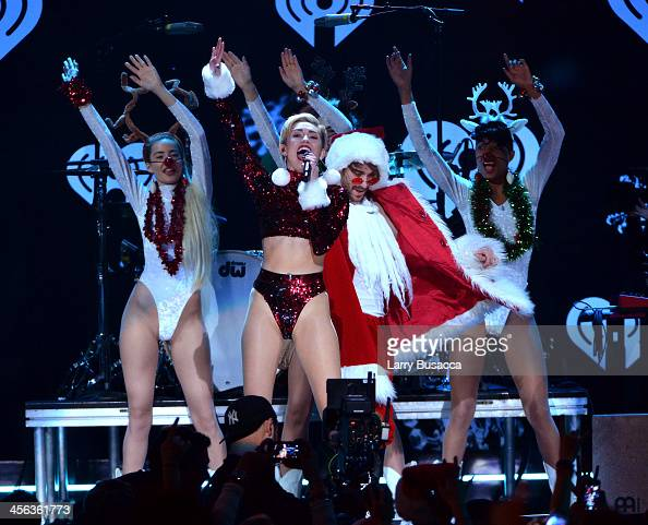 Miley Cyrus performs onstage during Z100's Jingle Ball 2013 presented by Aeropostale at Madison Square Garden on December 13 2013 in New York City