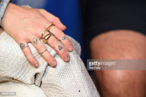 Miley Cyrus tattoo detail attends iHeartSummer '17 Weekend by ATT at Fontainebleau Miami Beach on June 10 2017 in Miami Beach Florida