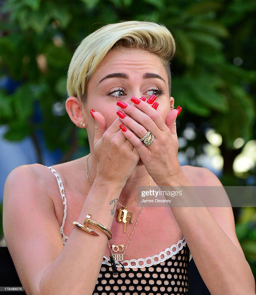 Miley Cyrus visits ABC's 'Good Morning America' on July 15, 2013 in New York, United States.