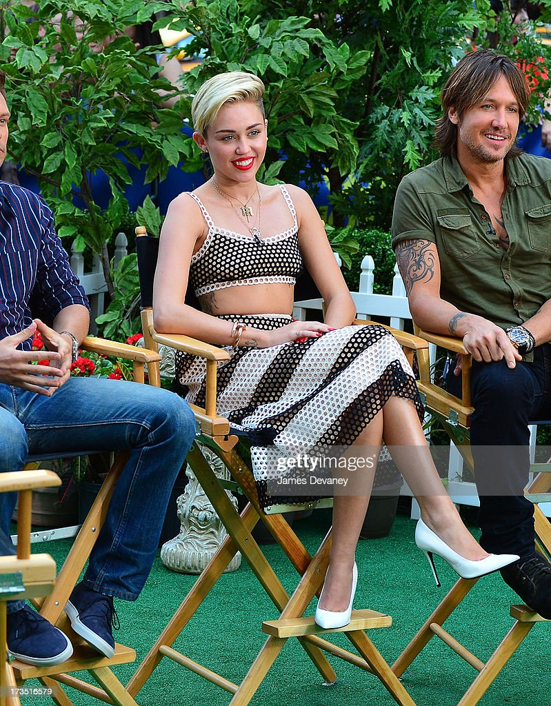<a gi-track='captionPersonalityLinkClicked' href=/galleries/search?phrase=Miley+Cyrus&family=editorial&specificpeople=3973523 ng-click='$event.stopPropagation()'>Miley Cyrus</a> visits ABC's 'Good Morning America' on July 15, 2013 in New York, United States.