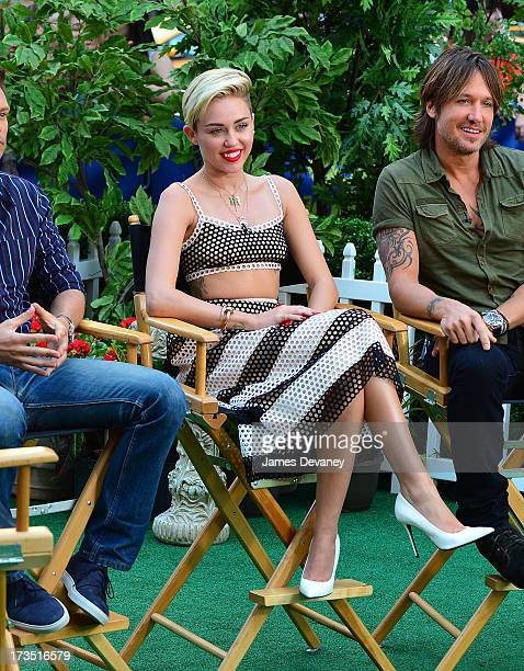 Miley Cyrus visits ABC's 'Good Morning America' on July 15 2013 in New York United States