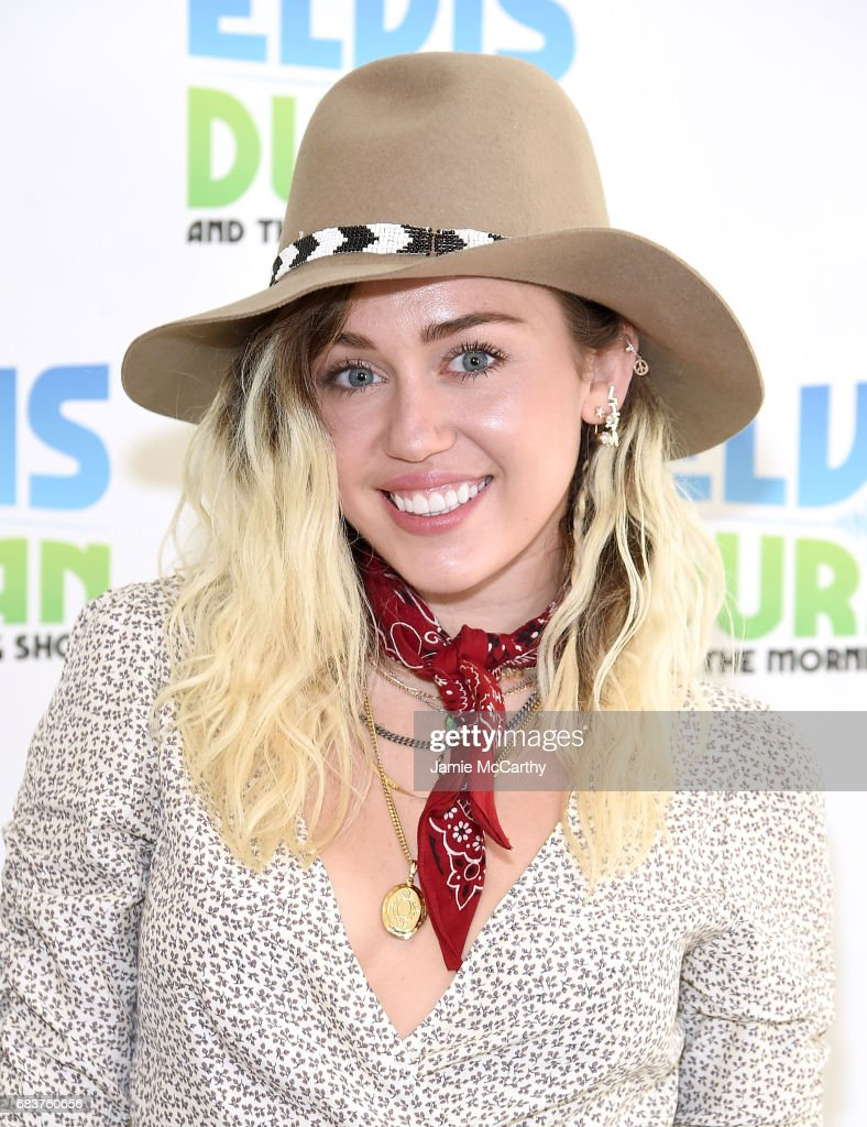 Miley Cyrus visits 'The Elvis Duran Z100 Morning Show' at Z100 Studio on May 16, 2017 in New York City.
