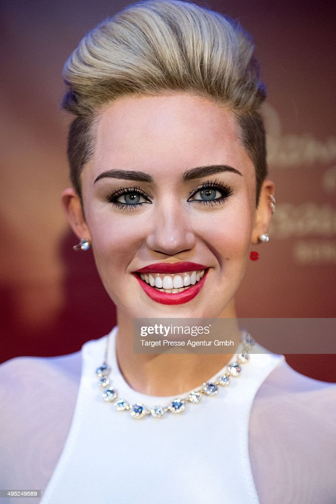 A <a gi-track='captionPersonalityLinkClicked' href=/galleries/search?phrase=Miley+Cyrus&family=editorial&specificpeople=3973523 ng-click='$event.stopPropagation()'>Miley Cyrus</a> wax figure is presented by Madame Tussauds on June 2, 2014 in Berlin, Germany.