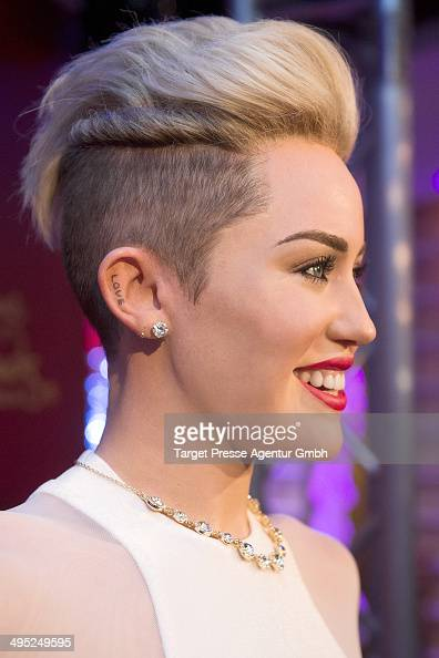 Miley Cyrus wax figure is presented by Madame Tussauds on June 2 2014 in Berlin Germany