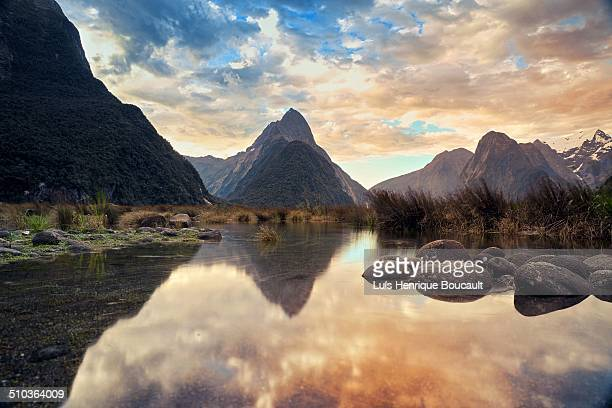 Milford Sound and sunset