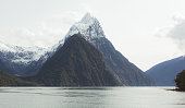 Stunning views of Milford Sound in New Zealand.