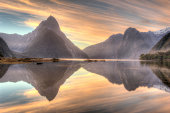 Milford Sound, South Island, New Zealand in Twilight time