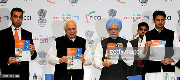 Milind Deora Union Minister for Communications IT Kapil Sibal Prime Minister Manmohan Singh Minister of State for Communications and Information...