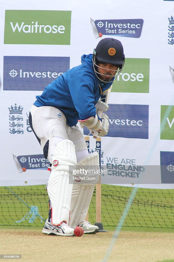 Milinda Siriwardana during Sri Lanka Nets session ahead of the 2nd Investec Test match between England and Sri Lanka at Emirates Durham ICG on May 25, 2016 in Chester-le-Street, United Kingdom.