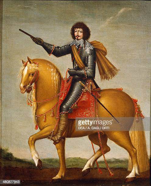Militaria France 18th century Portrait of a cavalryman with armour Painting of Anonymous Artist oil on canvas approximately 1650 Florence Museo...