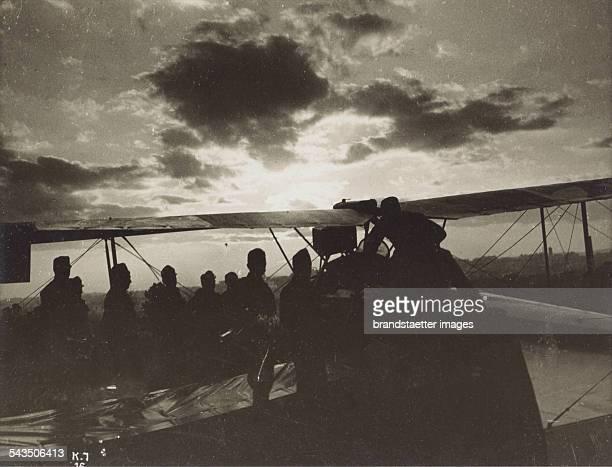 Military aircraft 1917 WWI Silver gelatin print 72x94cm Photograph by Rudolf Koppitz Photoinstitut Bonartes