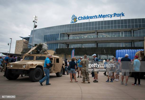 Military Appreciation day in full swing before the match between Sporting Kansas City and Atlanta United FC on Sunday August 6 2017 at Children's...