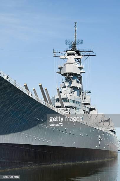 Le navire militaire USS Wisconsin, vue latérale