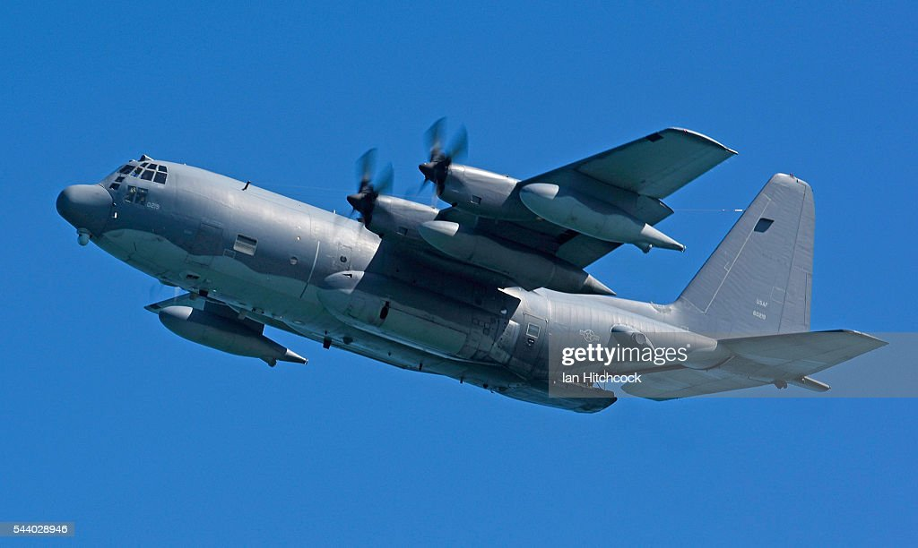 S military C-130 Hercules aircaft is seen flying over a simulated crash site during Exercise Angel Reign on July 1, 2016 in Townsville, Australia. Exercise Angel Reign is the largest Air Force led field exercise in Australia this year and is a bilateral Joint Personnel Recovery exercise which aims to practice search and rescue activities both at sea and on land.