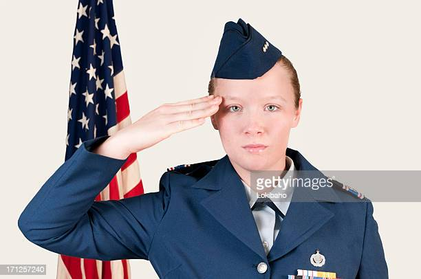 Military Cadet Salute front view