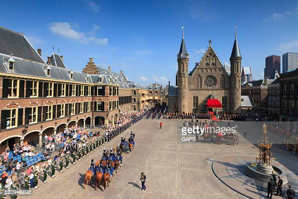 military ceremony on Binnenhof during Prinsjesdag in The Hague