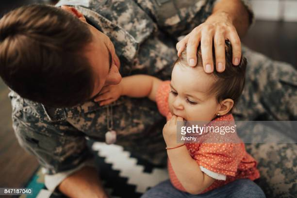 Military Dad is back home.