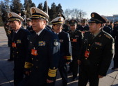 Military delegates arrive for the first session of the National People's Congress at the Great Hall of the People in Beijing on March 5 2014 China's...