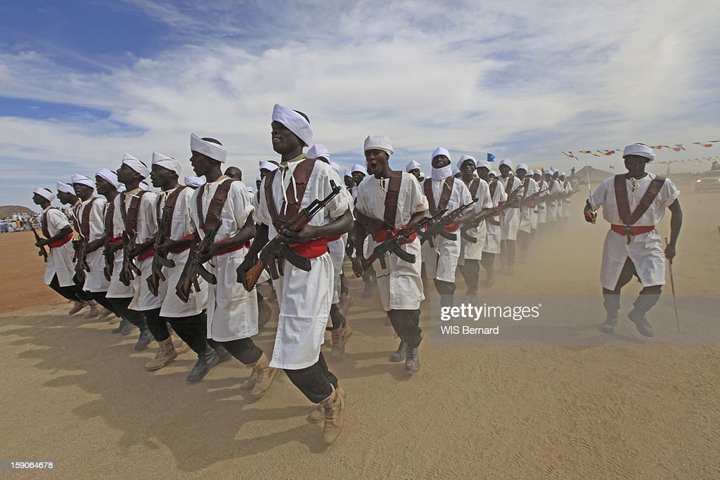 Military forces of the Chadian army on military maneuvers on December 19, 2012 in Biltine, Chad.