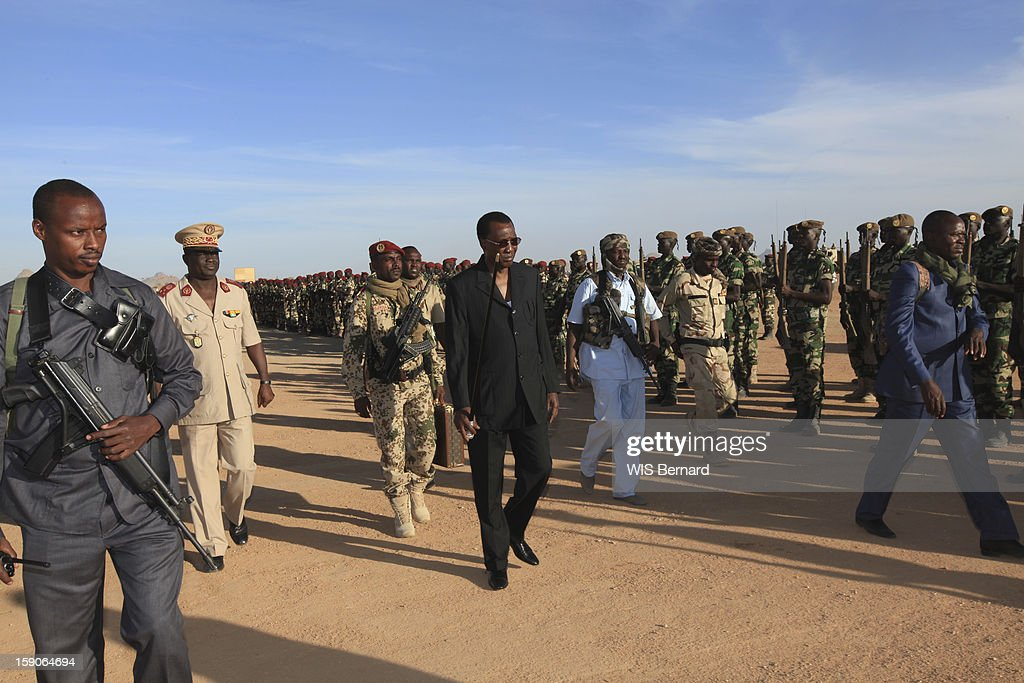 Military forces of the chadian army on military maneuvers on December 20, 2012 in Biltine, Chad.