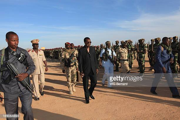 Military forces of the chadian army on military maneuvers on December 20 2012 in Biltine Chad