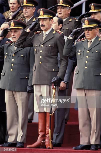 Military junta president Videla in Argentina in June 1978