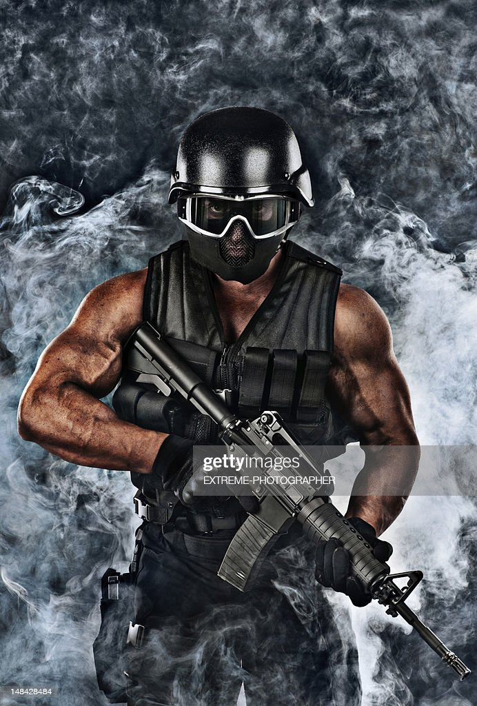 Military Man : Stock Photo