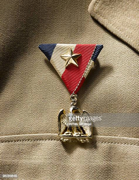 Military Medal on Uniform