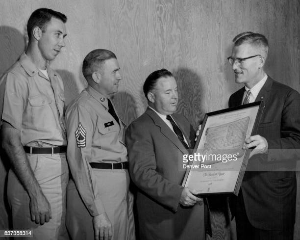 Military Newspaper Editors Honored Three military newspaper editors received honor plaques from the American Heritage Foundation this week for their...