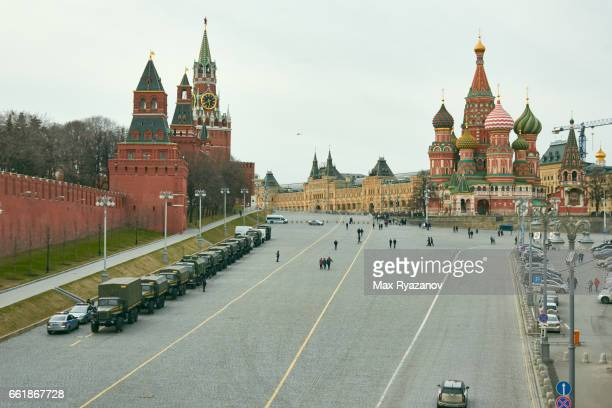 Military on the Red Square, Moscow