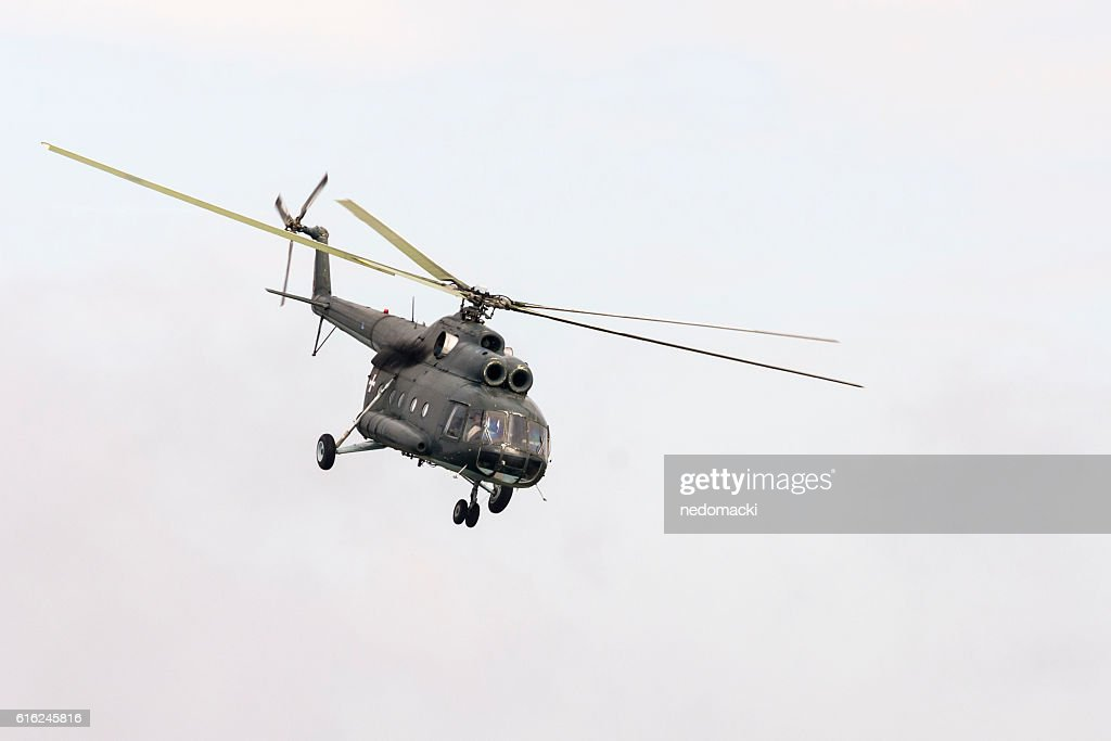 Military parade in Novi Sad - Military helicopter : Stock-Foto
