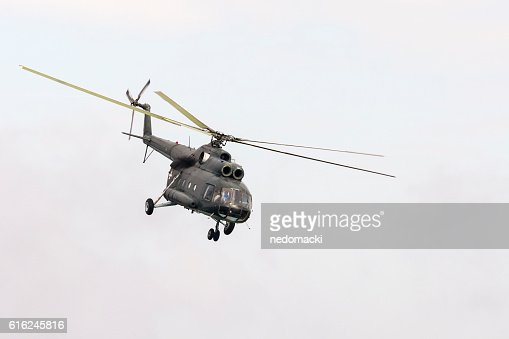 Military parade in Novi Sad - Military helicopter : Foto stock