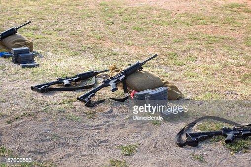 U.S. Military Rifles On Range