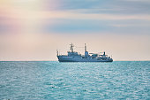 Military Degaussing Ship in the Black Sea
