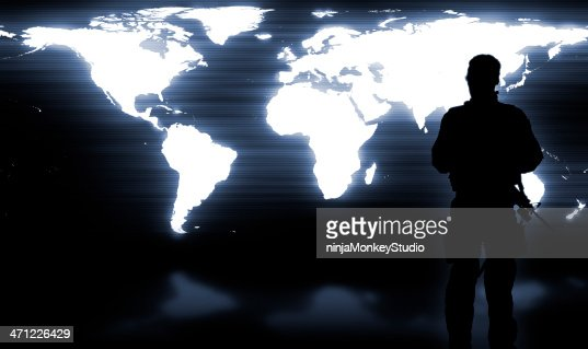 Military Soldier Guarding the World