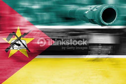 Military Strength Theme Motion Blur Tank With Mozambique