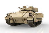 Military Tank isolated on white background - 3D Render