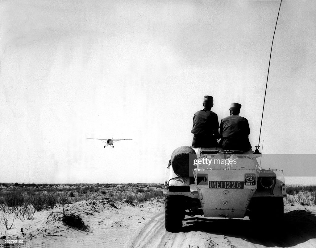 Military troops evacuating on the brink of the SixDay War in the Near East The United Nations Emergency Force helped maintaining peace for several...