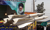A military truck carries shalamcheh missile during the an annual military parade which marks Iran's eightyear war with Iraq 198088 in the capital...