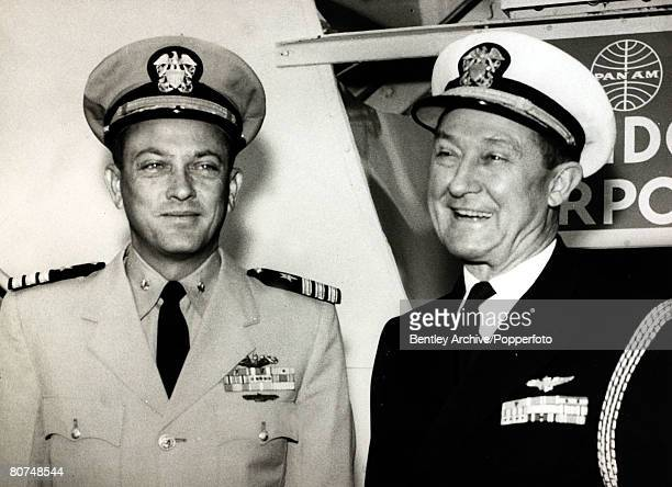 circa 1960 Captain William Anderson left the Commander of the US nuclear powered submarine 'Nautilus' which in 1958 had completed an historic voyage...